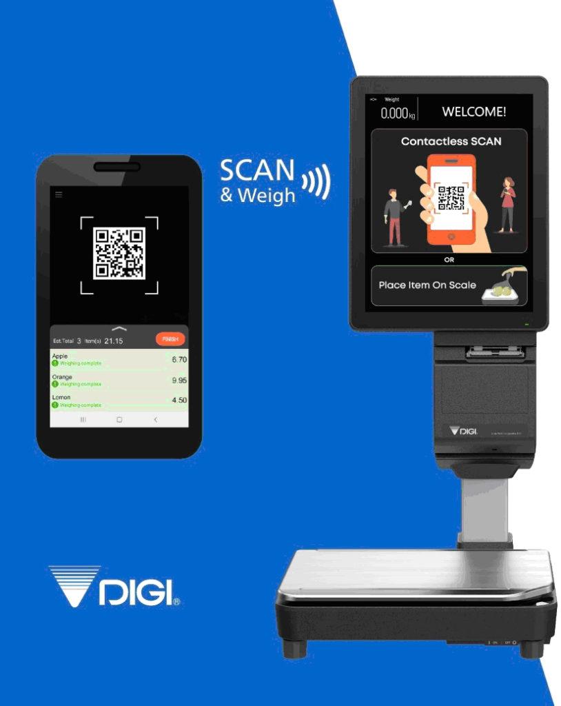 устройство DIGI за безконтактно претегляне на продукти