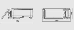 скица с размери на електронен кантар